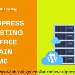 $1 WordPress Web Hosting With Free Domain Name