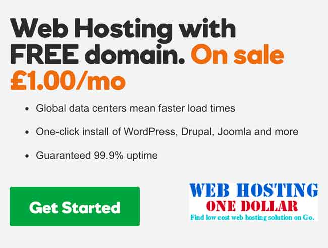 One Euro Web Hosting By Godaddy