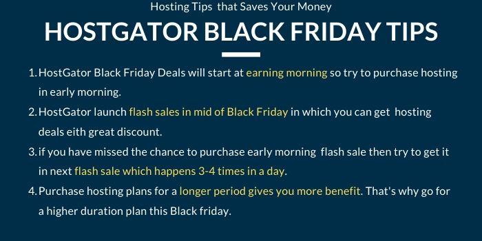 hostgator black friday money saving tips