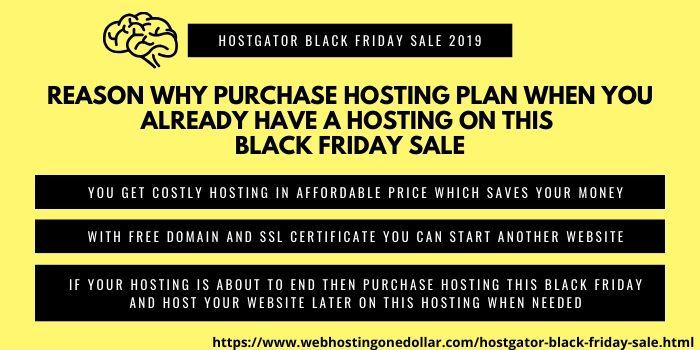 Why purchase hosting during hostgator black fridals sale