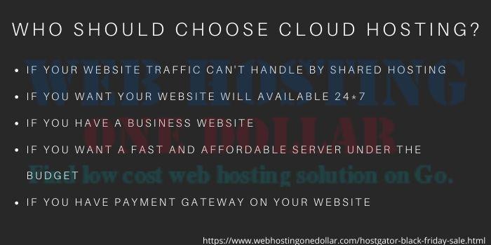 why choose hostgator Cloud hosting plan