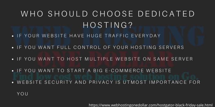 why choose hostgator dedicated hosting plan
