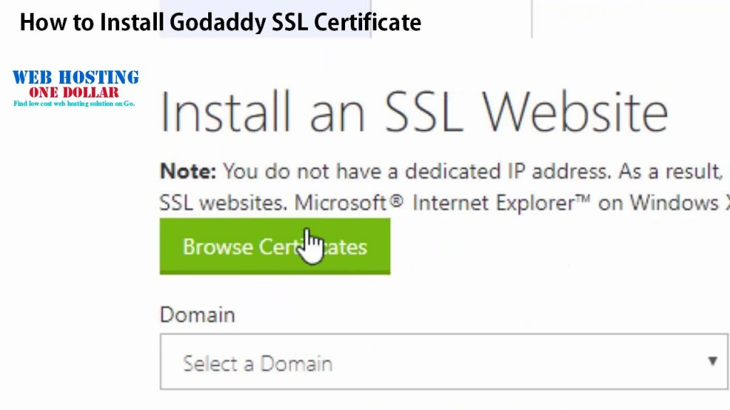 How to Install Godaddy SSL Certificate