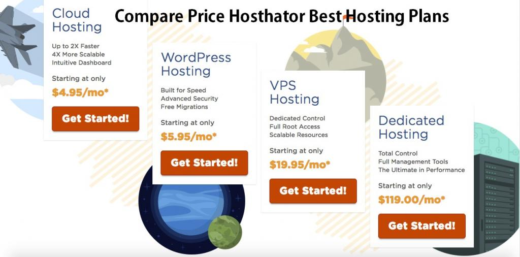 Compare Hostgator hosting Plans
