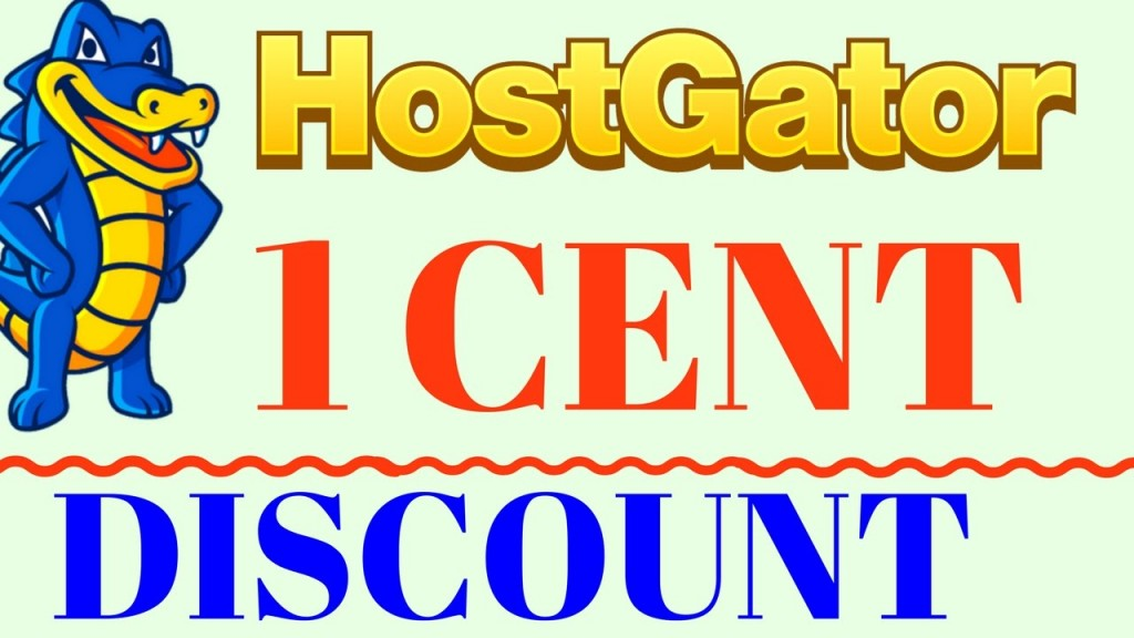 Hostgator 1 cent hosting discount