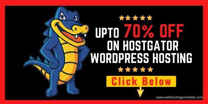 Hostgator WordPress Hosting 70 Off