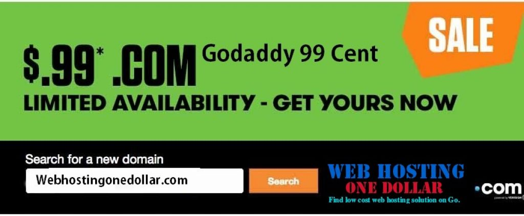 0.99 domains godaddy