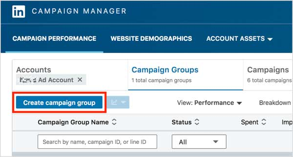 linkedIn video ads Campaign Manager