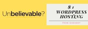 one dollar wordpress web hosting godaddy coupon