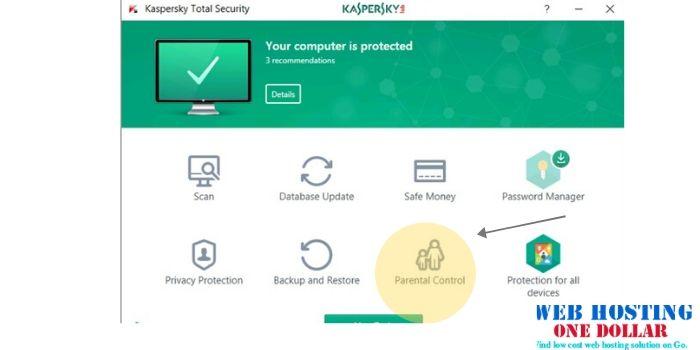 kaspersky parental control sample