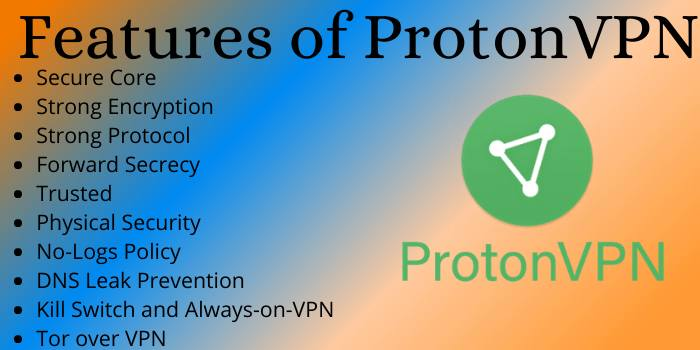 Features of ProtonVPN