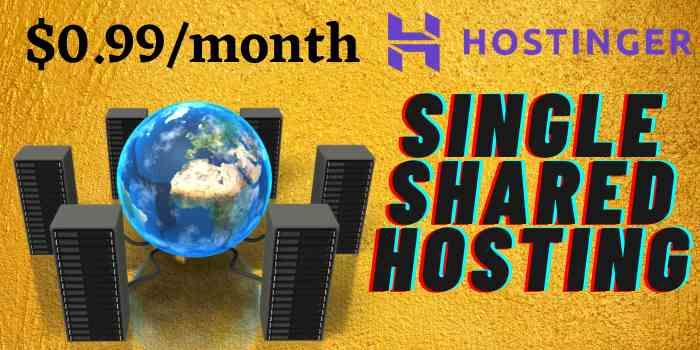 Hostinger Single Shared Hosting