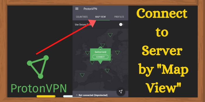 connect by using the map view
