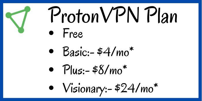 ProtonVPN Plan