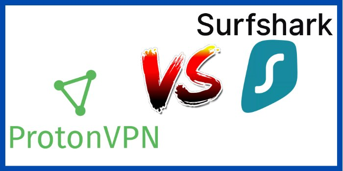 ProtonVPN Vs SurfShark