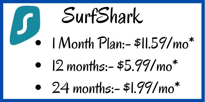 SurfShark Plan