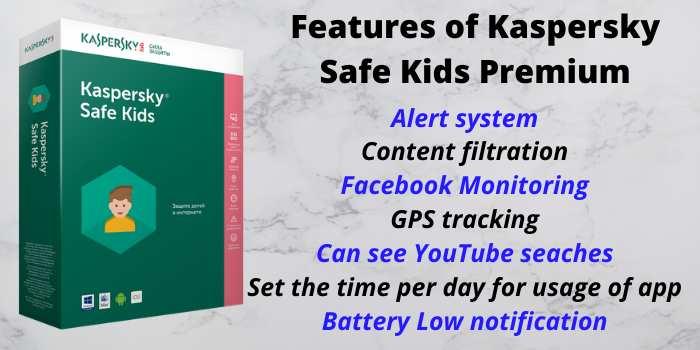 Features of Kaspersky Safe Kids Premium