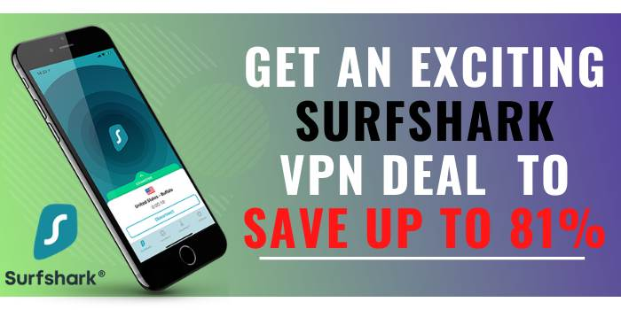 Get an exciting Surfshark VPN deal to save up to 81%