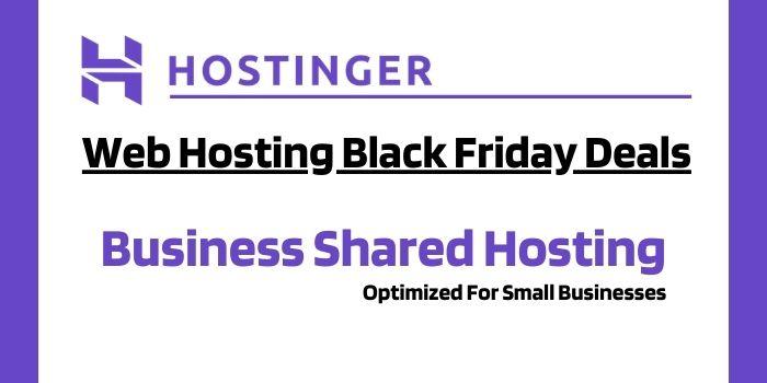Hostinger Black Friday Business Shared Hosting