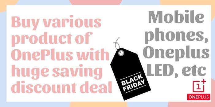 OnePlus Black Friday Coupon