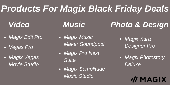 Products for Magix Black Friday Deals