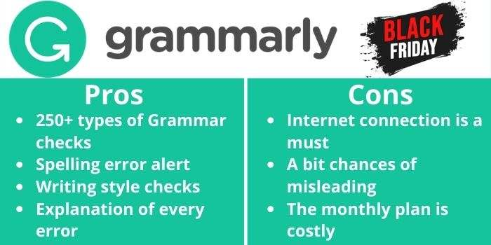 Pros & Cons Grammarly