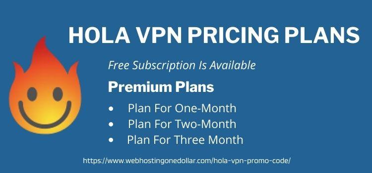 Hola vpn pricing plans