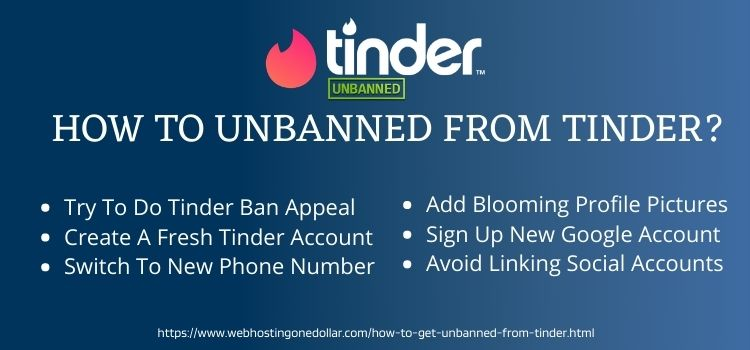 How To Unbanned From Tinder