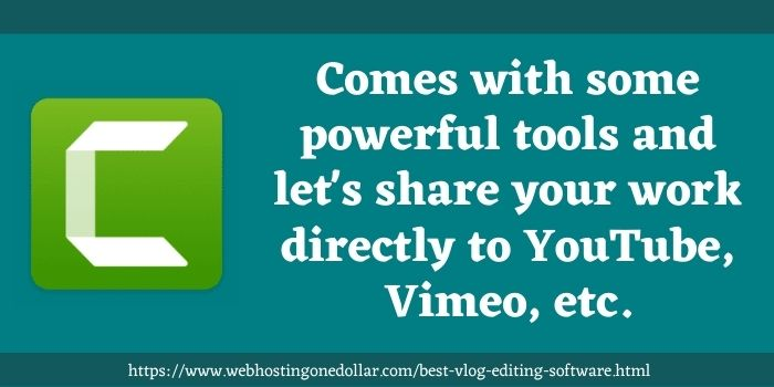 TechSmith Camtasia best vlog video editing software