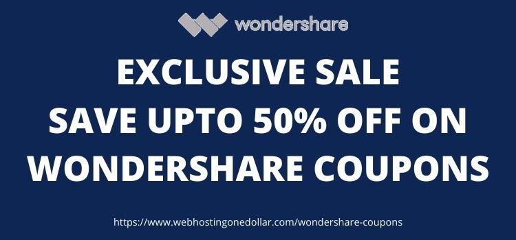 Wondershare coupon code