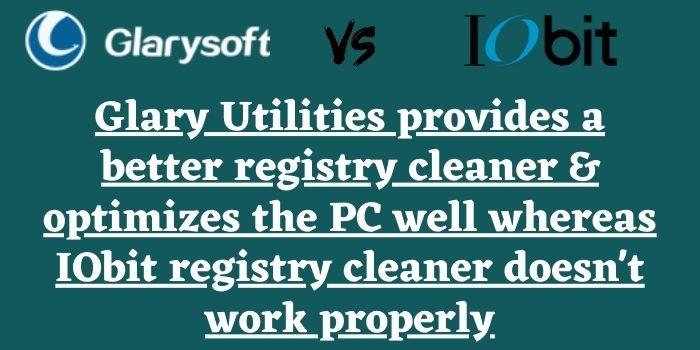 Glary Utilities vs IObit Advanced SystemCare